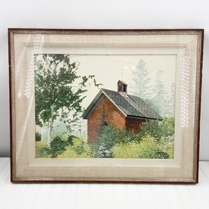 Vintage Brick Shed Print No 6931 Artist Weiss